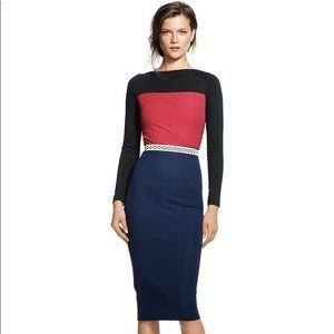 BR Roland Mouret Collection Colorblock Dress